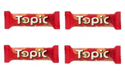 Topic Chocolate Bars 4pcs for only 25Aed
